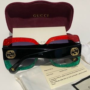Gucci Urban GG 0083S Sunglasses 001 Red